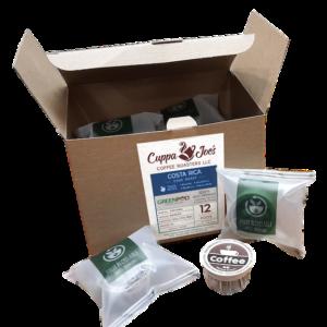 Cuppa Joe's Costa Rica Greenpod 12-ct box