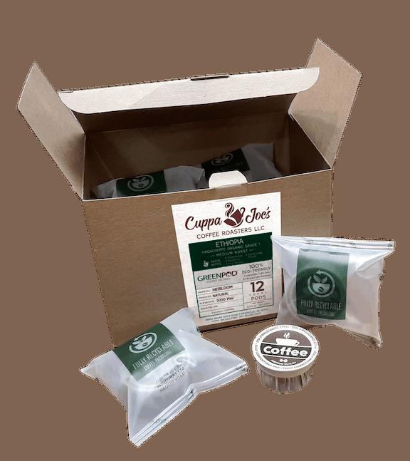 Cuppa Joe's Ethiopian Greenpods 12-ct box